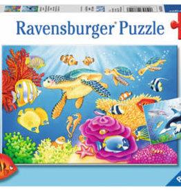 Ravensburger Vibrance Under The Sea 2 x 24 Pc