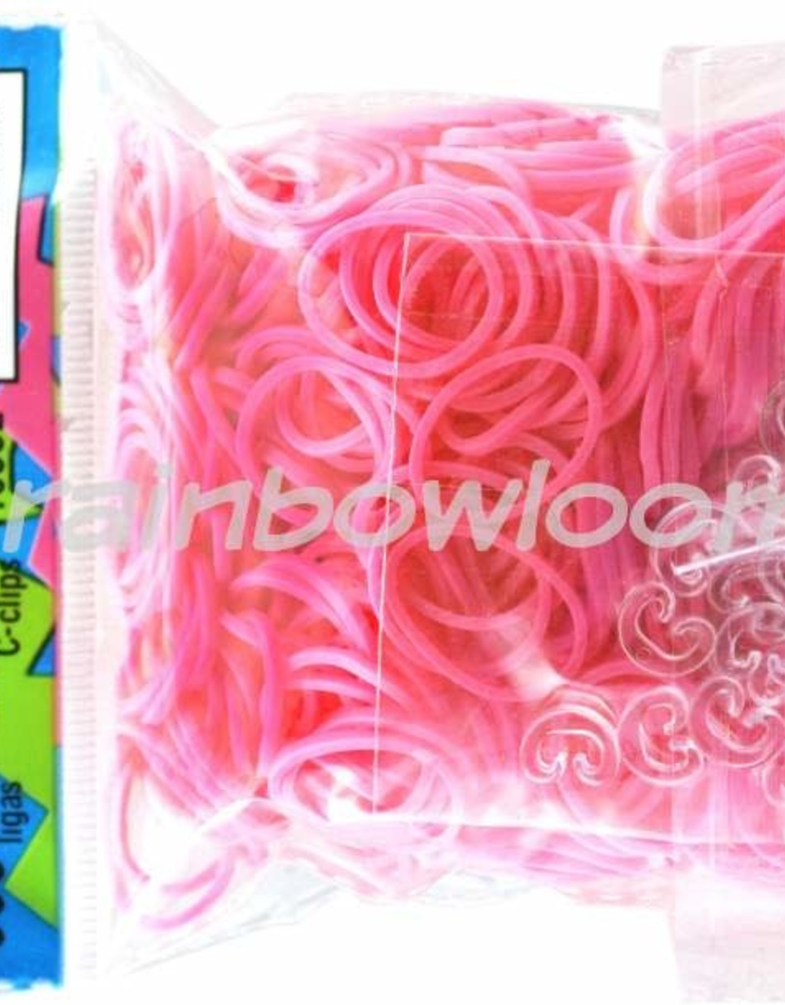 Rainbow Loom Elastics/Clips Jelly/Opaque 6-Pink Pack