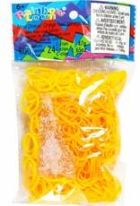 Rainbow Loom Elastics/Clips Jelly/Opaque 6-Yellow Pack