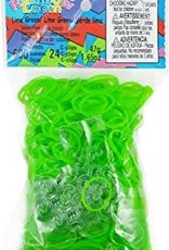 Rainbow Loom Elastics/Clips Jelly/Opaque 6-Green Pack