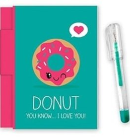 Scented Donut notepad  w/gel pen