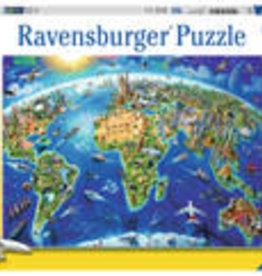 Ravensburger World Landmarks Map 300pc XXL