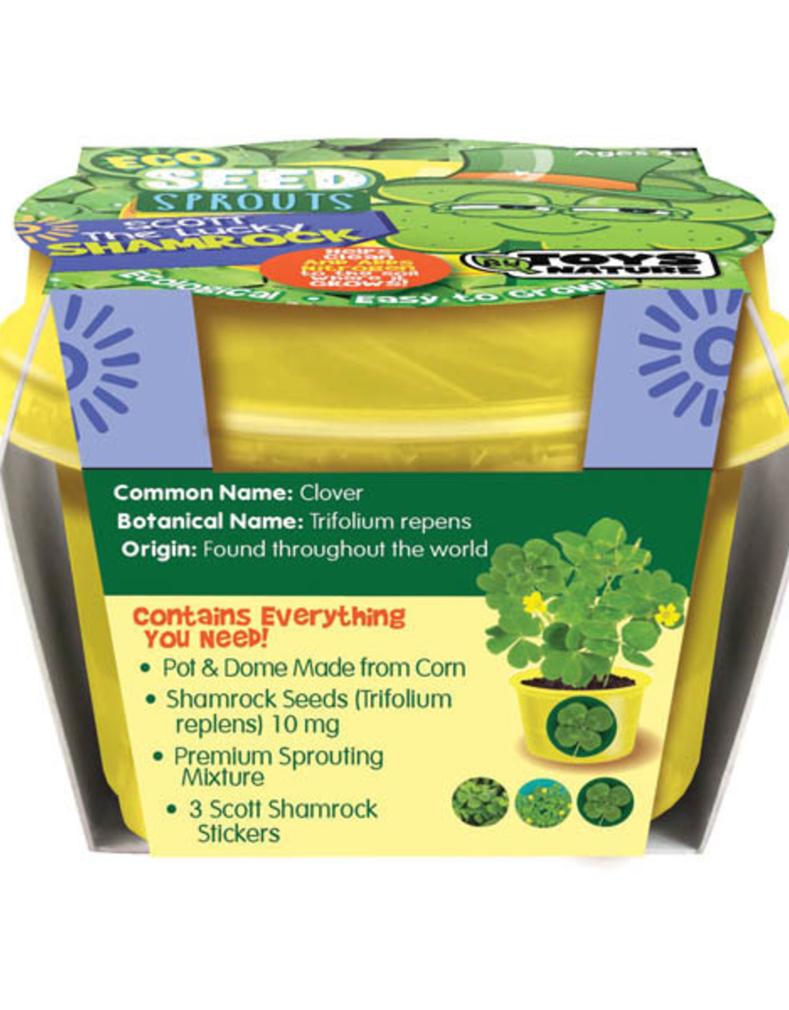 Eco Seed Sprouts-Scott the Lucky Shamrock