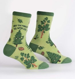 Sock It To Me WOMEN'S CREW: MAY THE FOREST BE WITH YOU