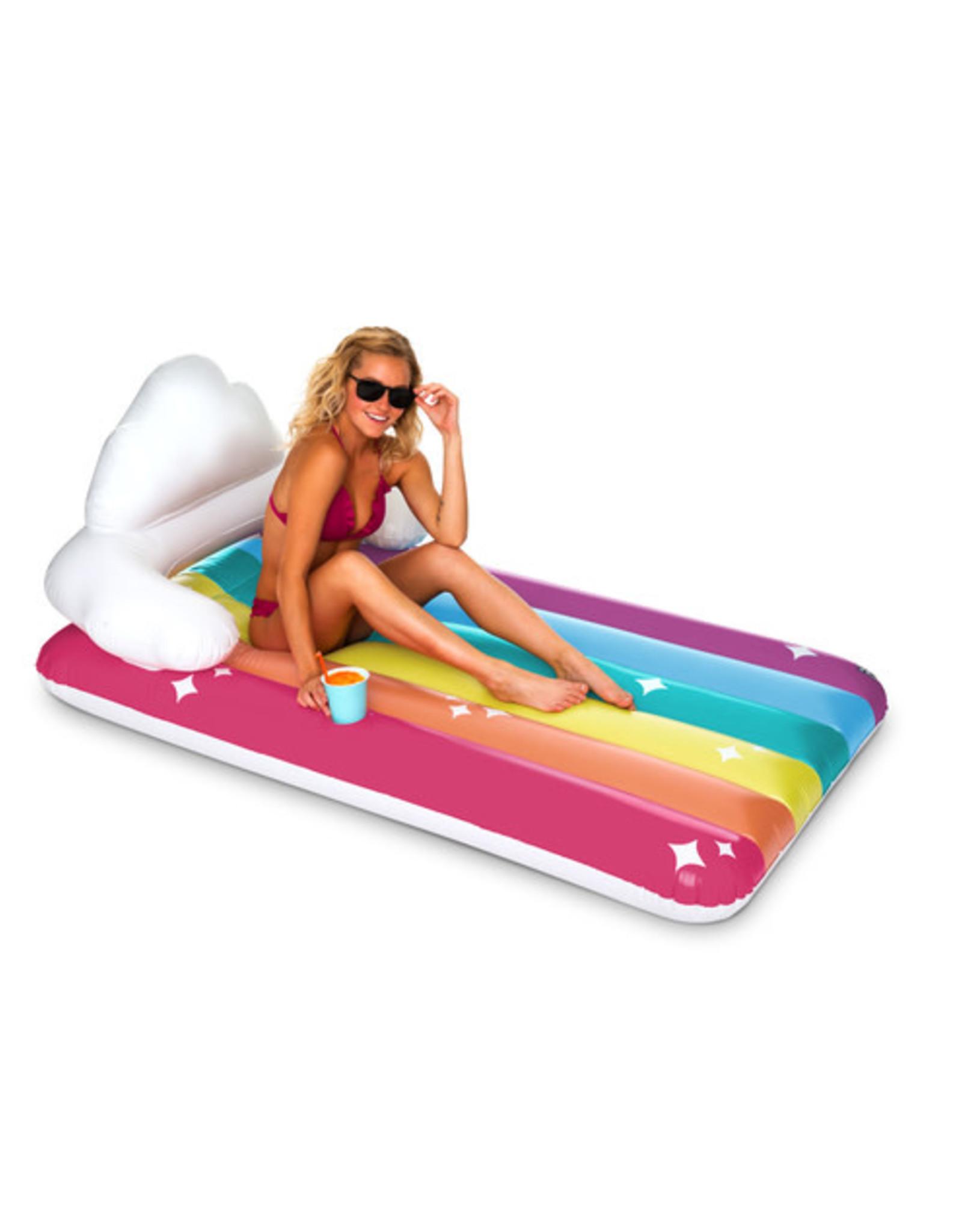 BigMouth Pool Float - Rainbow Clouds Mattress