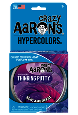 Crazy Aaron's Thinking Putty 4'' Epic Amethyst - Heat Sensitive Hypercolor