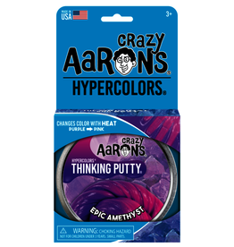 """Crazy Aaron's Thinking Putty 4"""" Epic Amethyst - Heat Sensitive Hypercolor"""