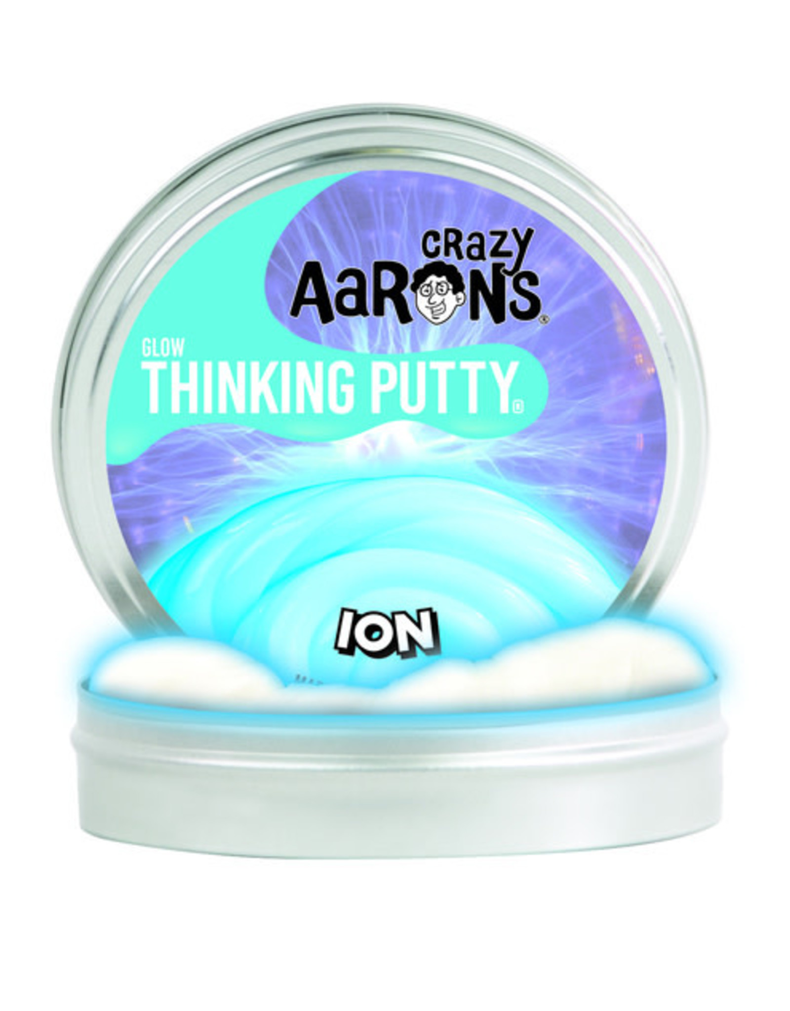 "Crazy Aaron's Thinking Putty 4"" Ion - Glow in the Dark"
