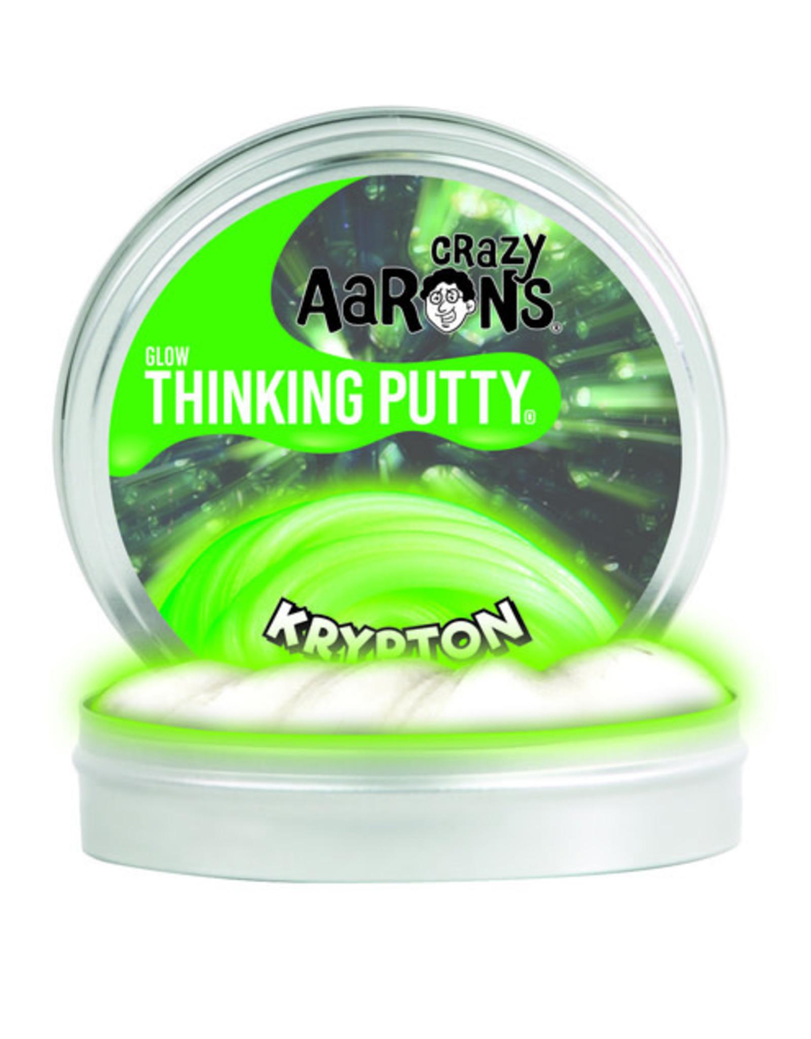 """Crazy Aaron's Thinking Putty 4"""" Krypton - Glow in the Dark"""