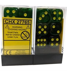Chessex Borealis: 12D6 Maple Green / Yellow