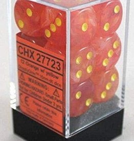 Chessex Ghostly Glow 12D6 Orange / Yellow (Glow in the dark)