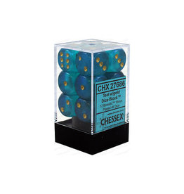 Chessex Borealis: 12D6 Teal / Gold