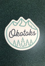 Stickers NW MOUNTAINS AND TREES OKOTOKS, AB