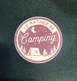 Stickers NW I'D RATHER BE CAMPING