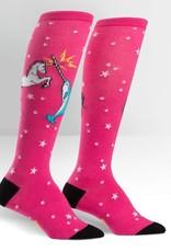Sock It To Me Knee High: Funky Unicorn VS Narwhal