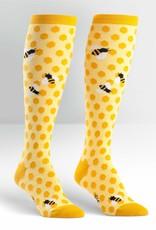 Sock It To Me Knee High Funky: Bee's Knees