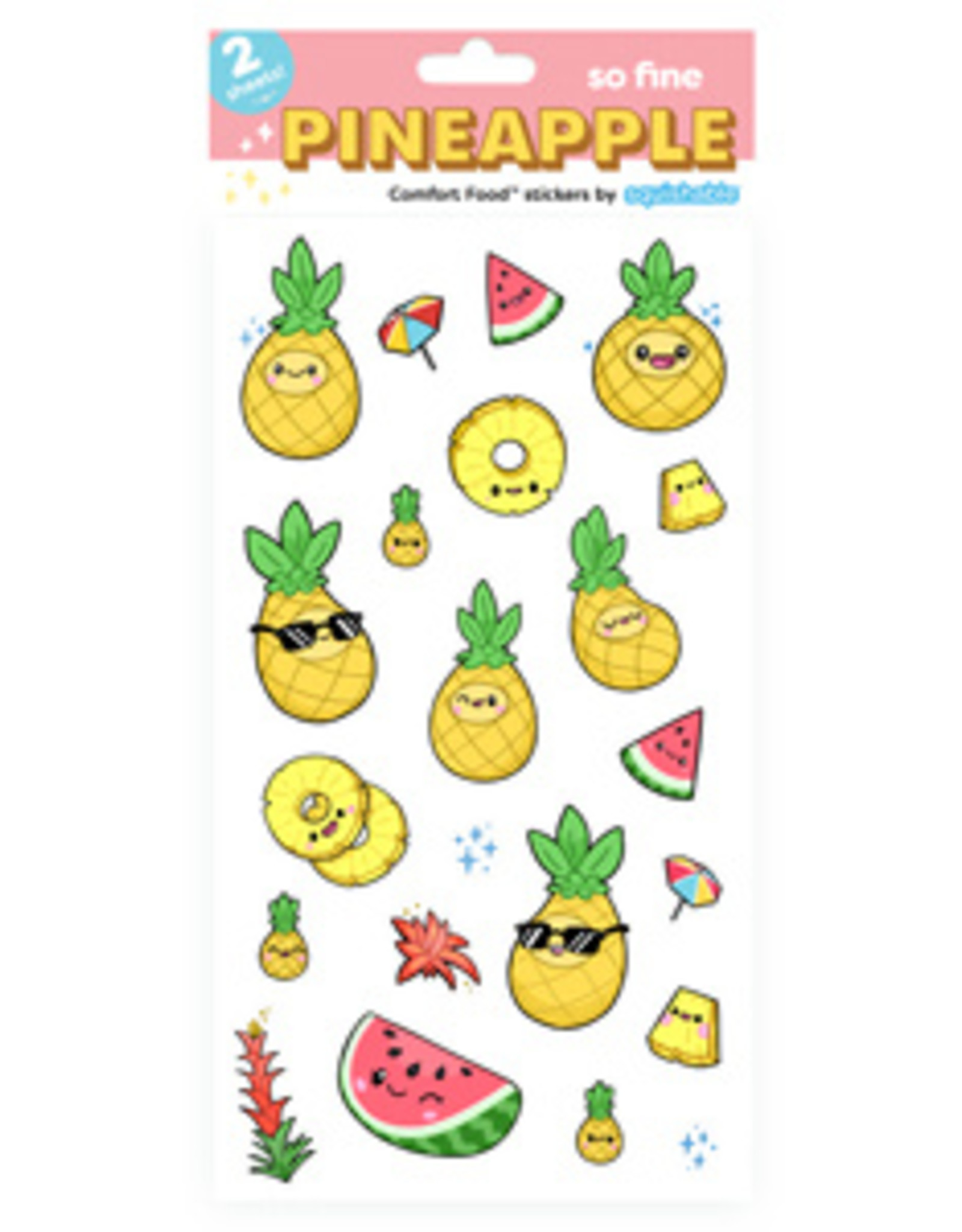 Squishable Pineapple Stickers