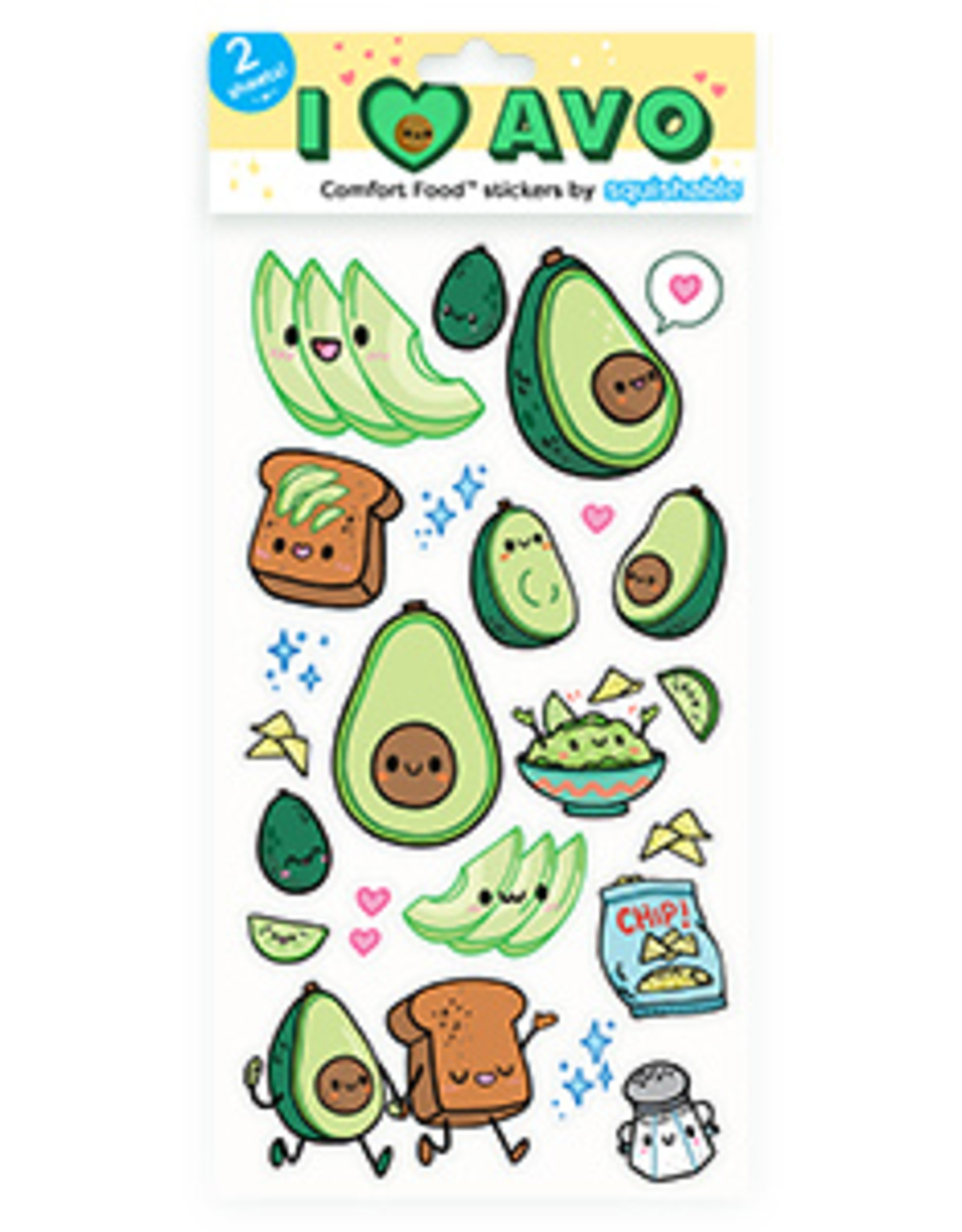 Squishable Avocado Stickers