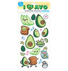 Squishable Avocado Stickers
