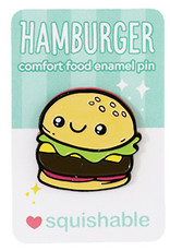 Squishable Enamel Pin - Hamburger