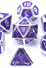 Die Hard METAL MYTHICA DICE SET - PLATINUM AMETHYST