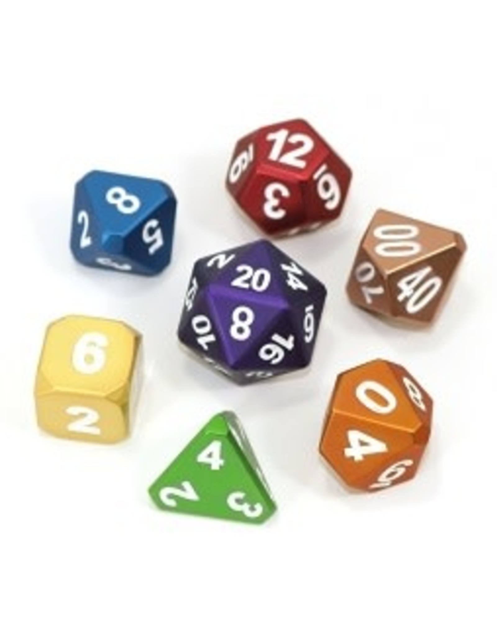 Die Hard Metal Forge Dice Set- Frosted Rainbow Mix