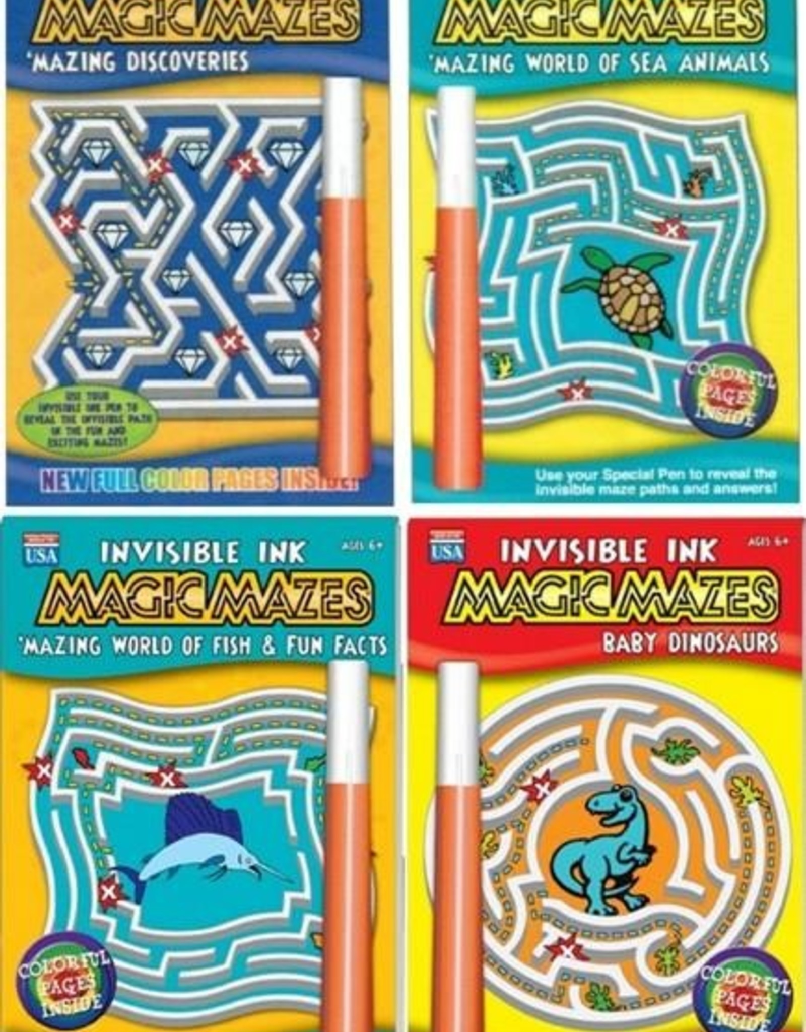 LEE Publications Magic Mazes Invisible Ink
