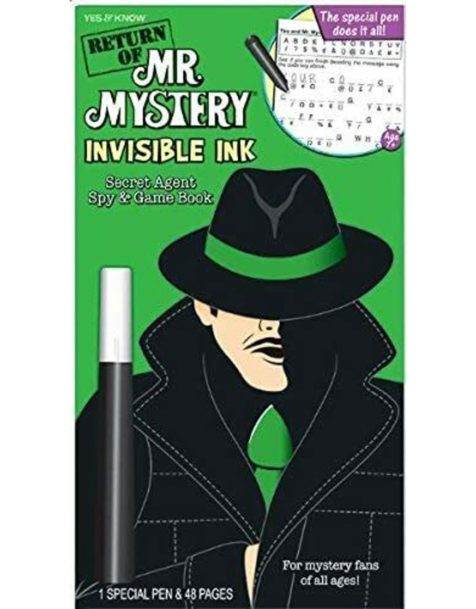 LEE Publications Mr. Mystery Invisible Ink Book