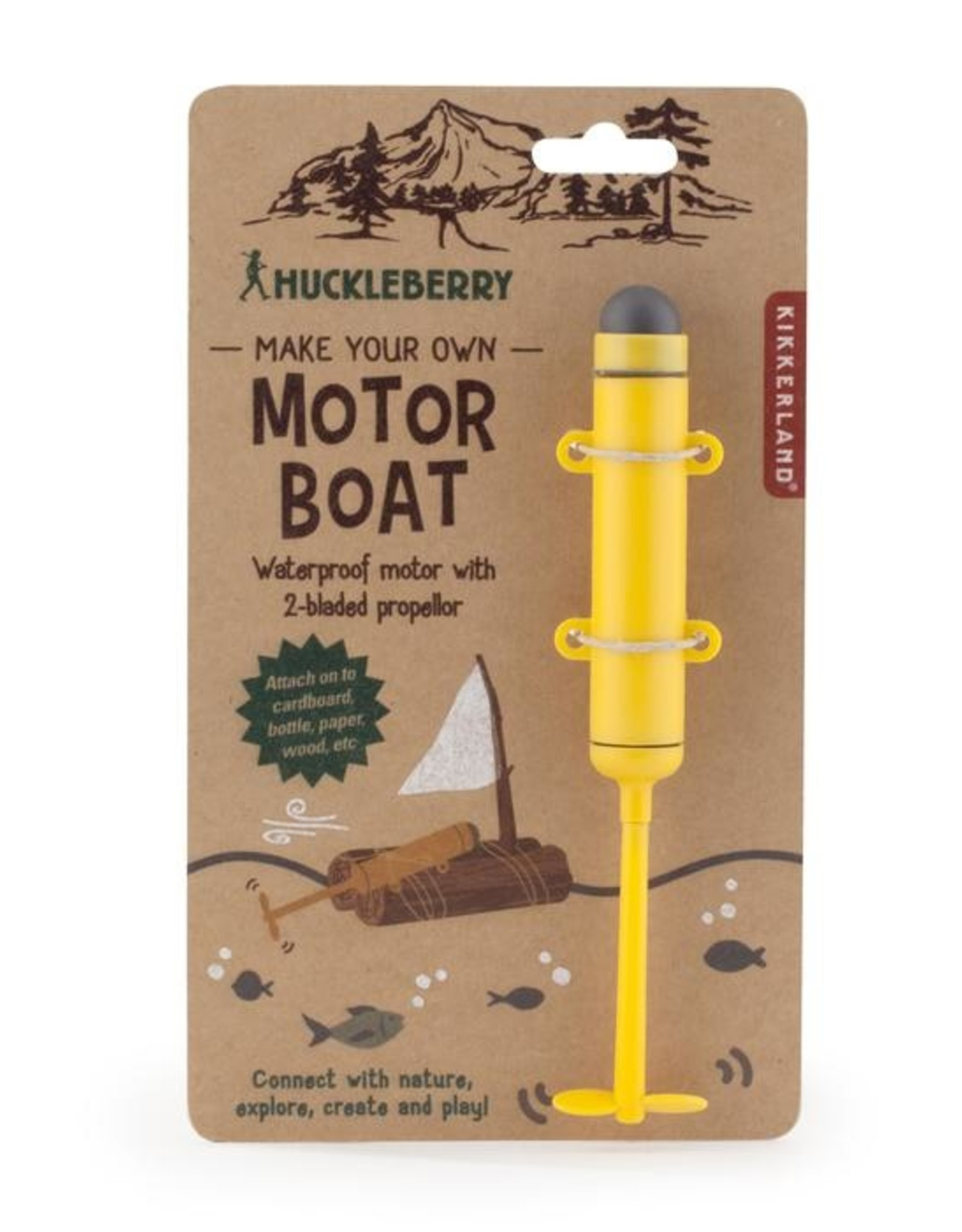 Kikkerland Huckleberry Make Your Own Motor Boat