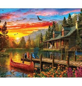 White Mountain SUNSET CABIN 550 PIECES