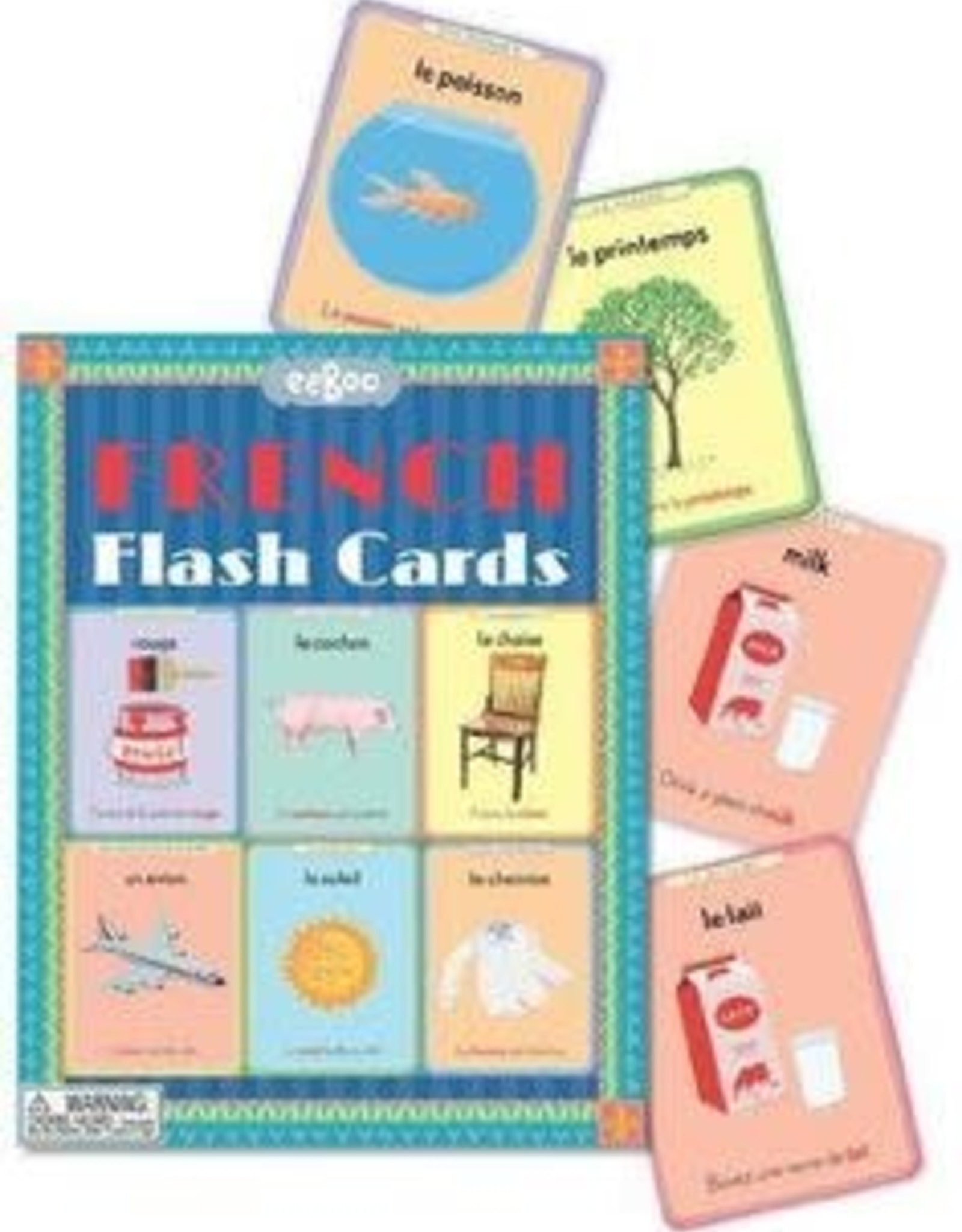 eeBoo LANGUAGE FLASH CARD FRENCH