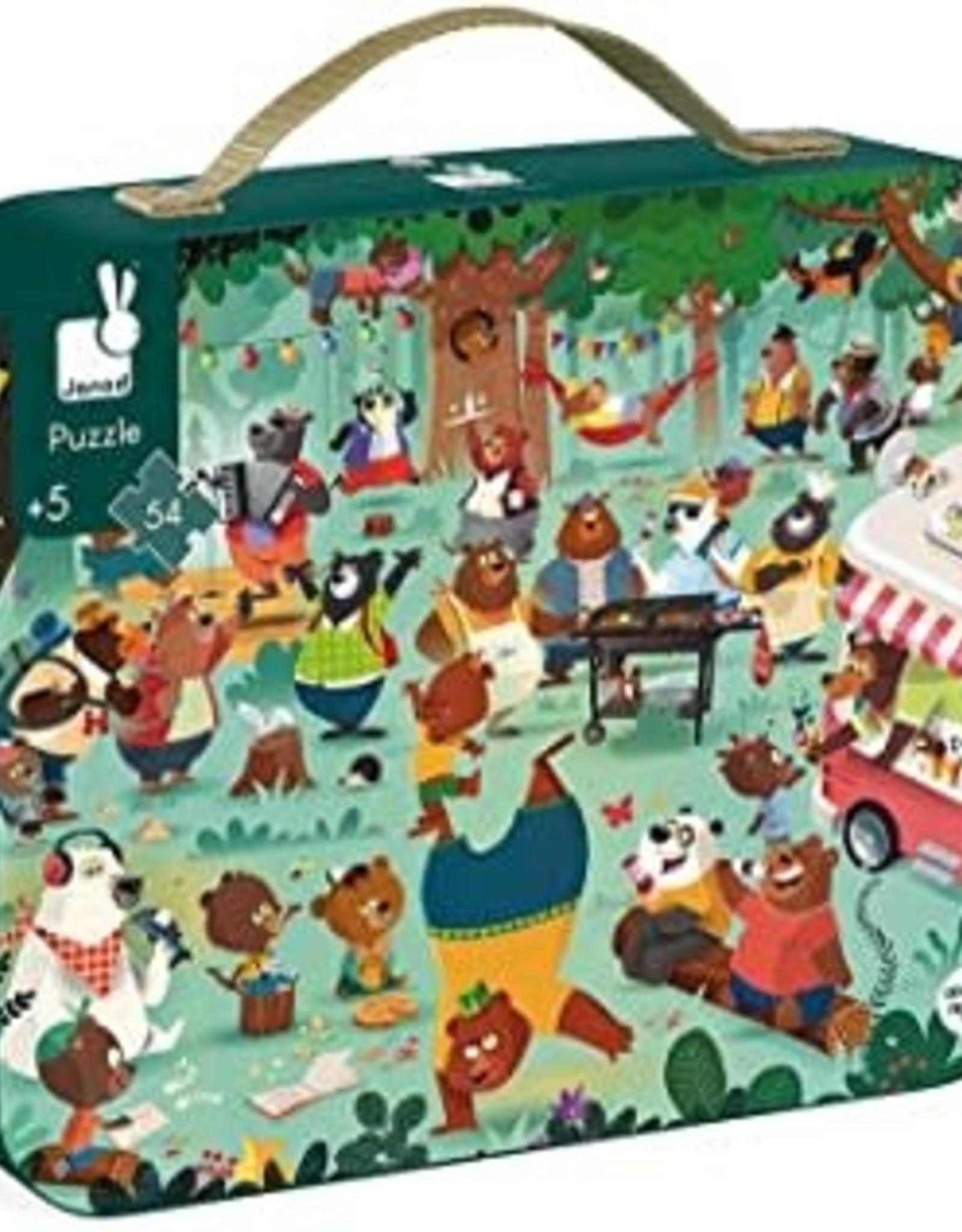 Janod 54 pc Puzzle Family Bears
