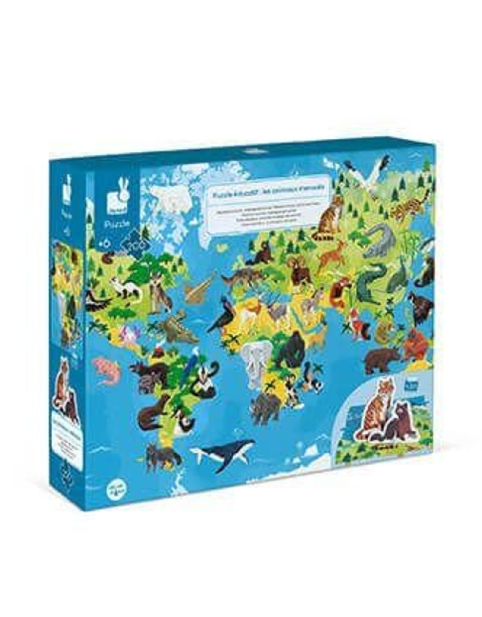 Janod 200 pc 3D Educational Puzzle Endangered Animals