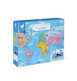 Janod 350 pc 3D Educational Puzzle World Curiosities