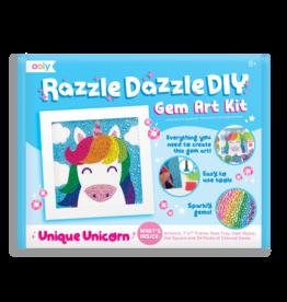 OOLY RAZZLE DAZZLE D.IY. GEM ART KIT: UNIQUE UNICORNS