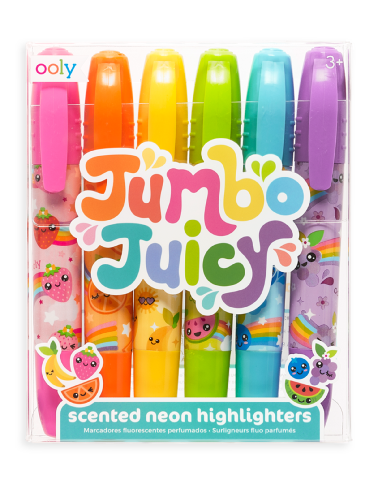 OOLY JUMBO JUICY SCENTED HIGHLIGHTERS - SET OF 6