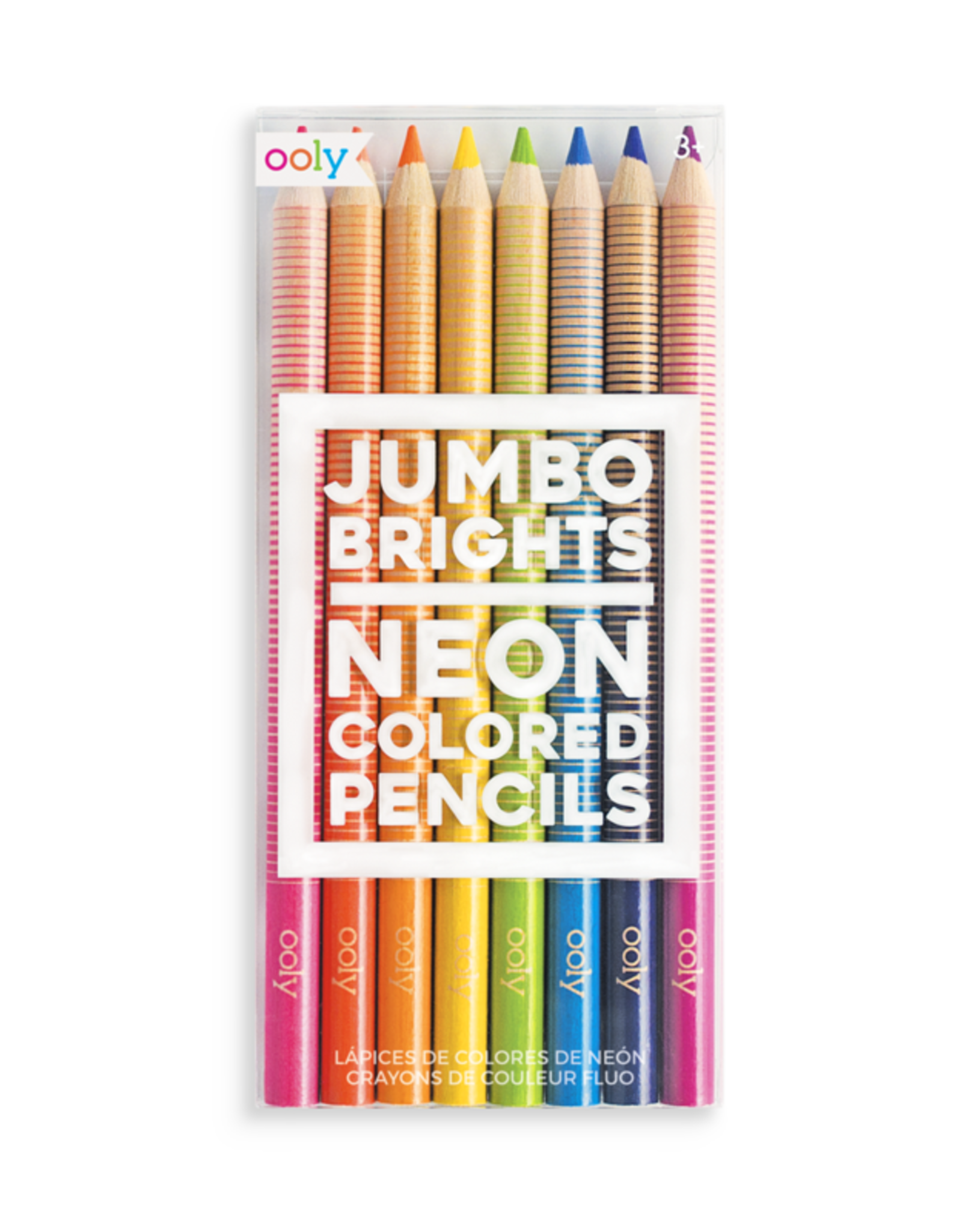 OOLY JUMBO BRIGHTS NEON COLORED PENCILS - SET OF 8