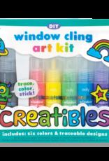 OOLY CREATIBLES DIY WINDOW CLING ART KIT - 7 PIECE SET