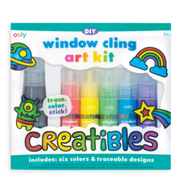 OOLY CREATIBLES DIY WINDOW CLING ART KIT - 7 PIECE SET