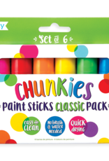 OOLY CHUNKIES PAINT STICKS - CLASSIC (SET OF 6)