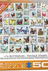 Eurographics Butterflies Vintage Stamps 500pc