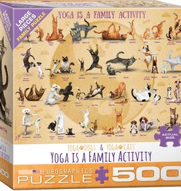 Eurographics Yoga is a Family Activity 500pc