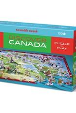 Crocodile Creek 100pc Discover Puzzle / Canada
