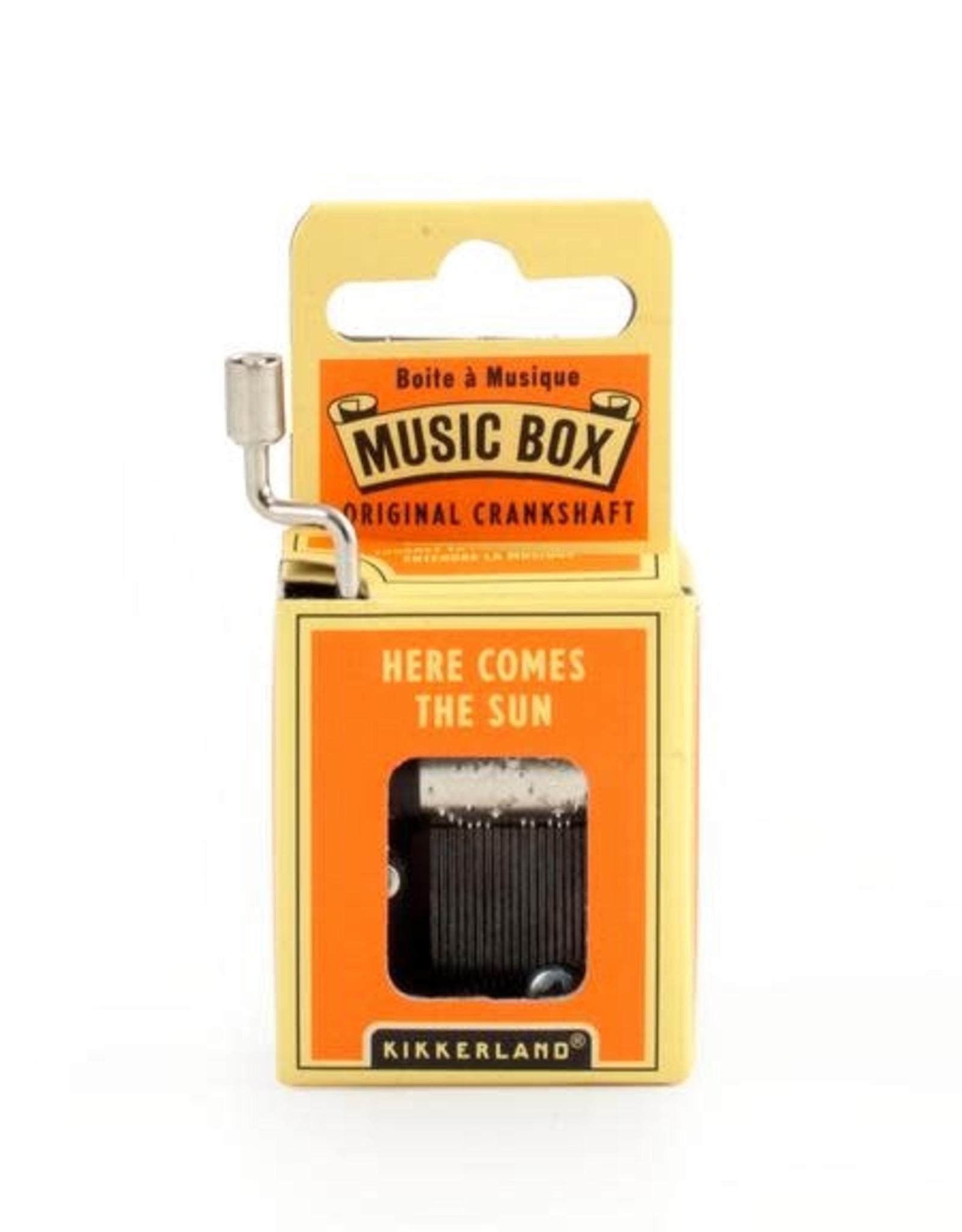 Kikkerland Here Comes the Sun Crank Music Box