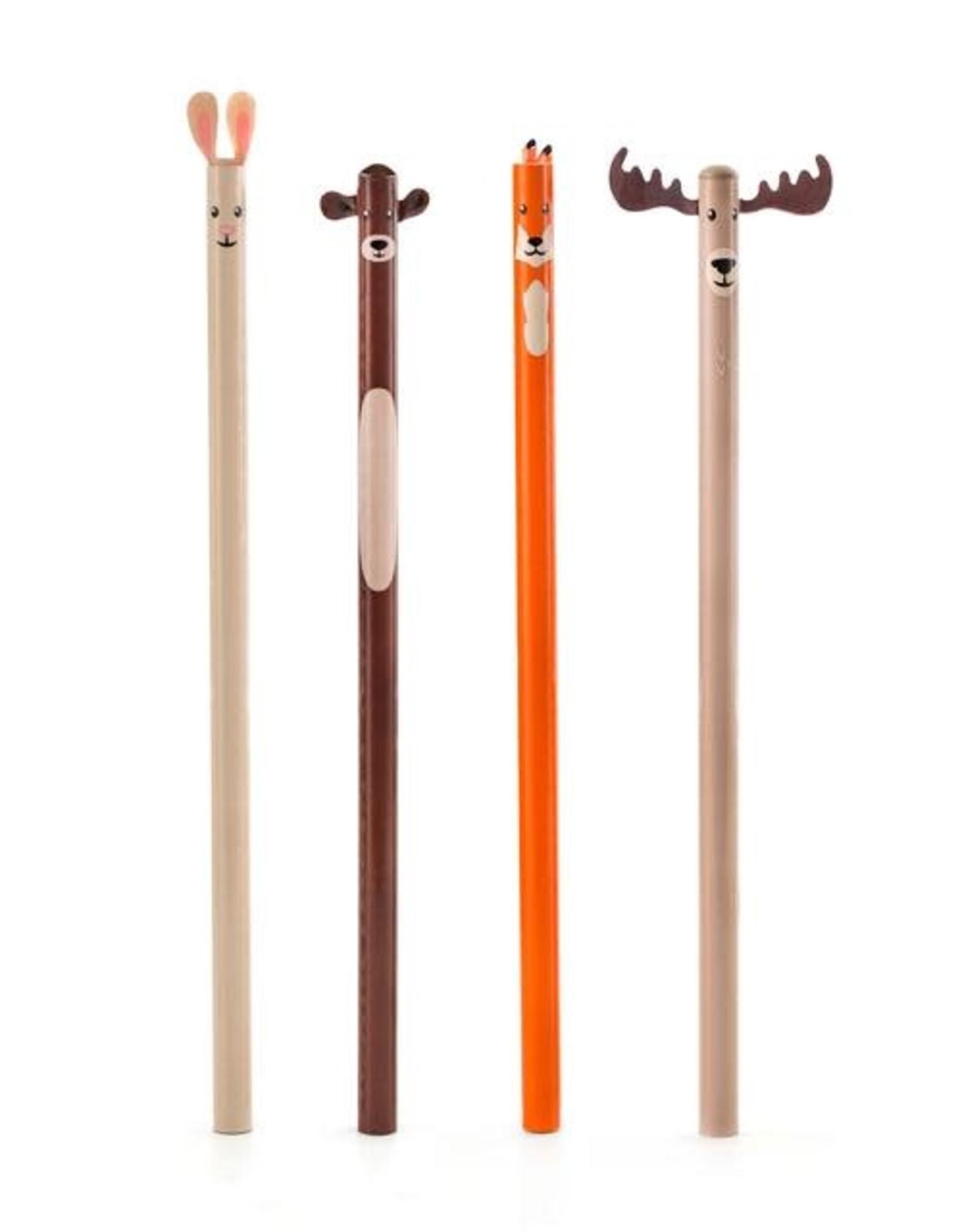 Kikkerland Woodland Pencil Set