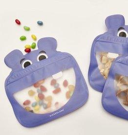 Kikkerland Hippo Zipper Bag
