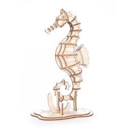 Kikkerland Seahorse 3D Wooden Puzzle