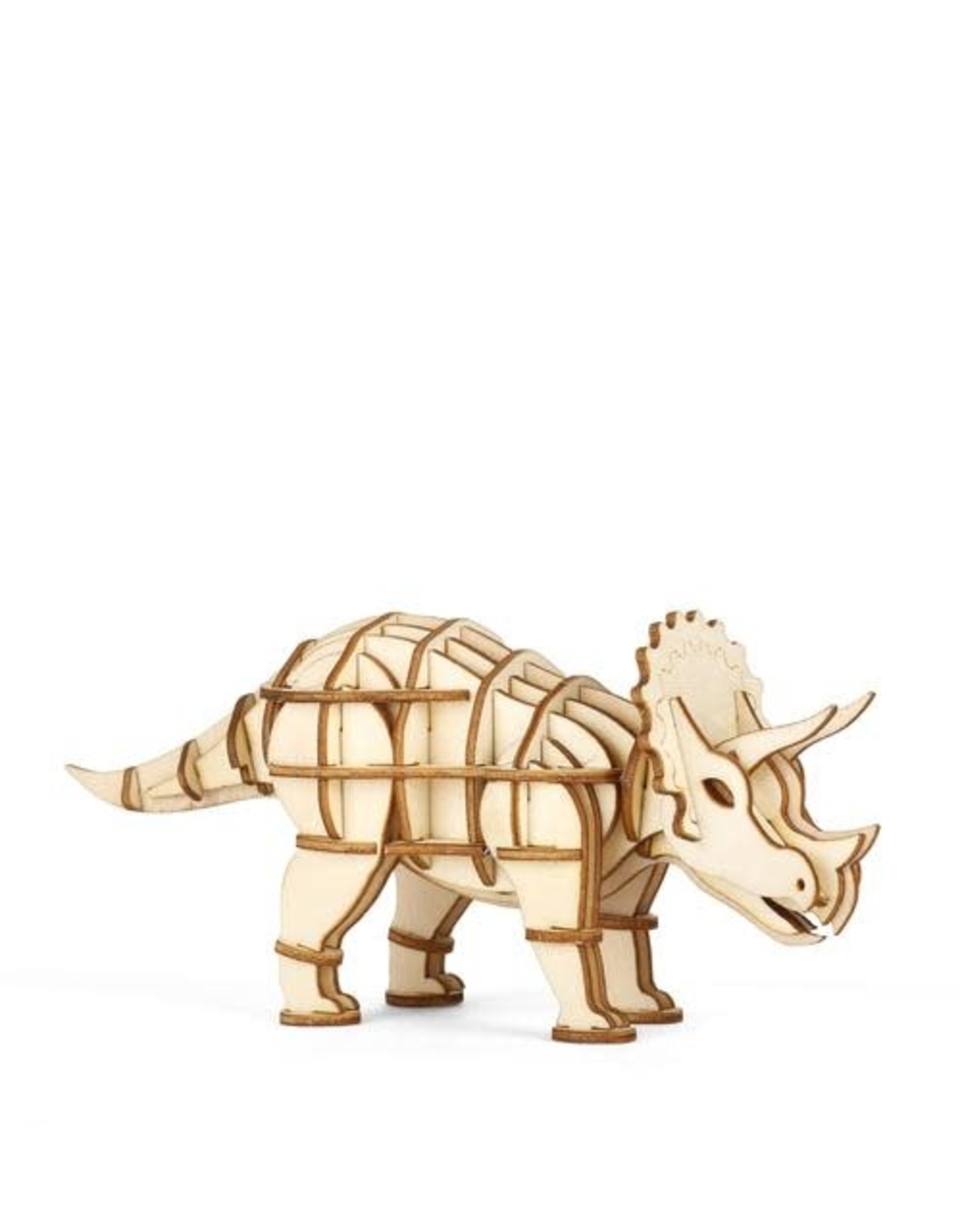 Kikkerland Triceratops 3D Wooden Puzzle
