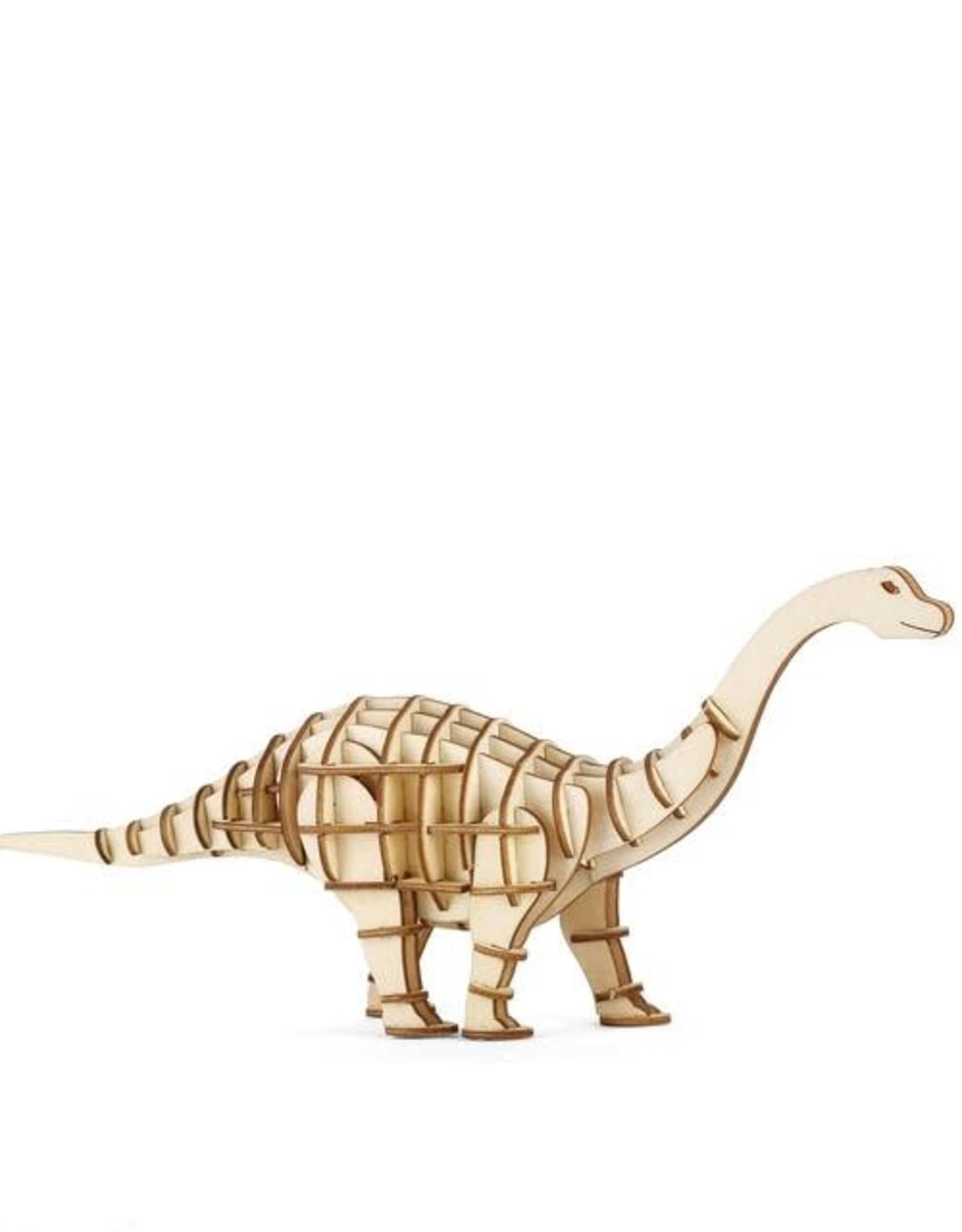 Kikkerland Apatosaurus 3D Wooden Puzzle