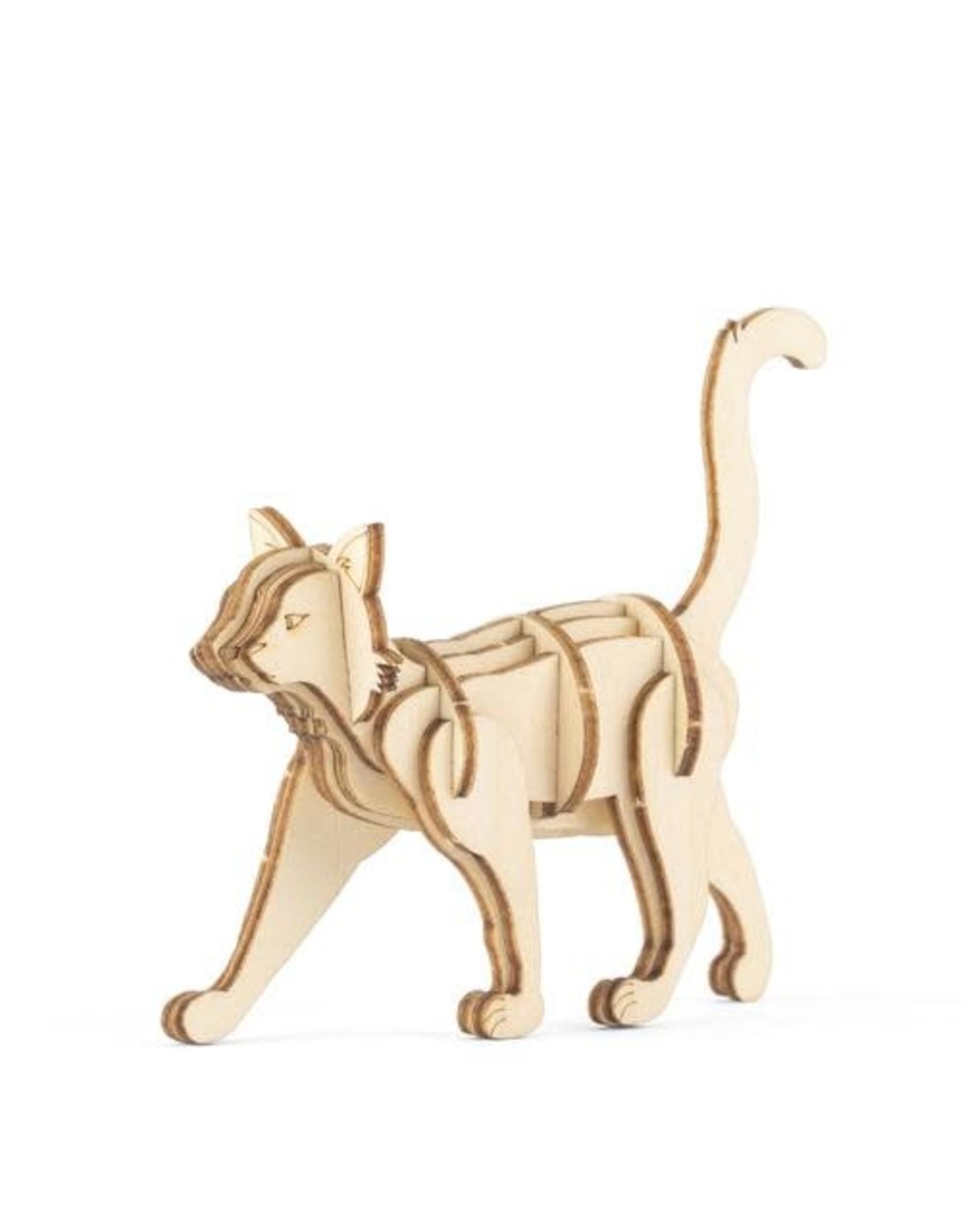 Kikkerland Cat 3D Wooden Puzzle
